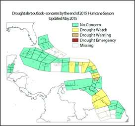 Figure 2 Drought Outlook at end of Wet Season